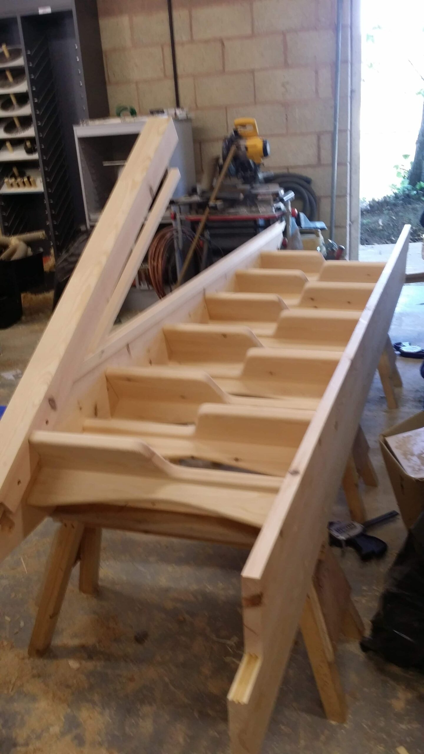 Staircase in progress at our workshop